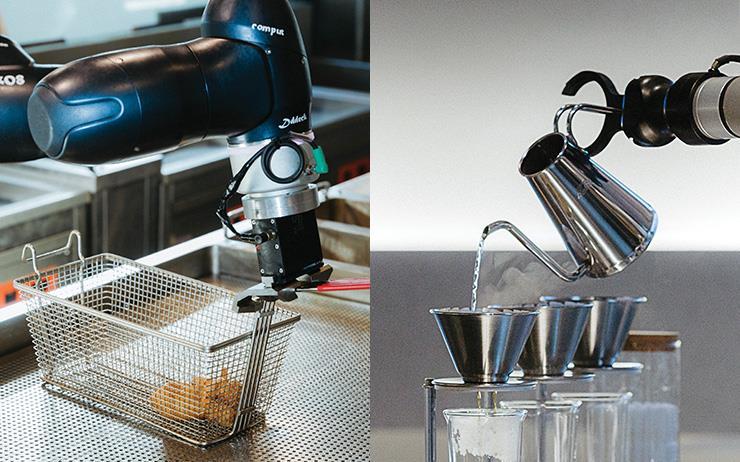 로봇이 튀기는 치킨, 로봇이 내리는 커피는 맛있을까?