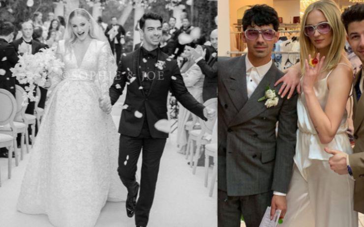 소피 터너 ♥ 조 조나스 커플은 두 번의 결혼식을 올렸다. 두 벌의 상반된 웨딩 드레스