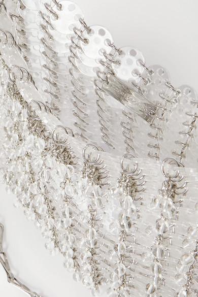 파코 라반(Paco Rabanne)이 1969년 스틸 장식을 이용해 제작했던 '르69'백의 플라스틱 장식 버전. 아이코닉한 디자인이 포인트다. 네타포르테에서 현재 1804달러에 판매 중이다. 한화로 213만원.