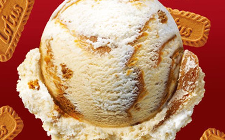 배스킨라빈스의 3월 이달의 맛은 로투스 비스코프다.