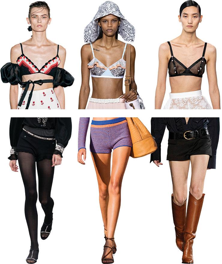 (위)Giambattista Valli, Lanvin, Loewe (아래)Chanel, Salvatore Ferragamo, Saint Laurent