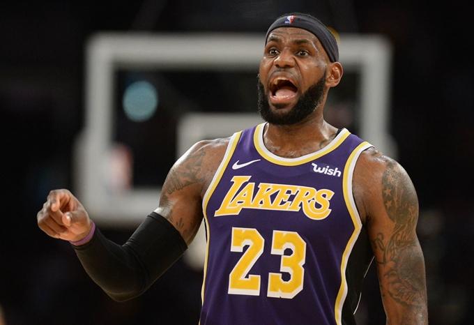 NBA, LA 레이커스의 르브론 제임스