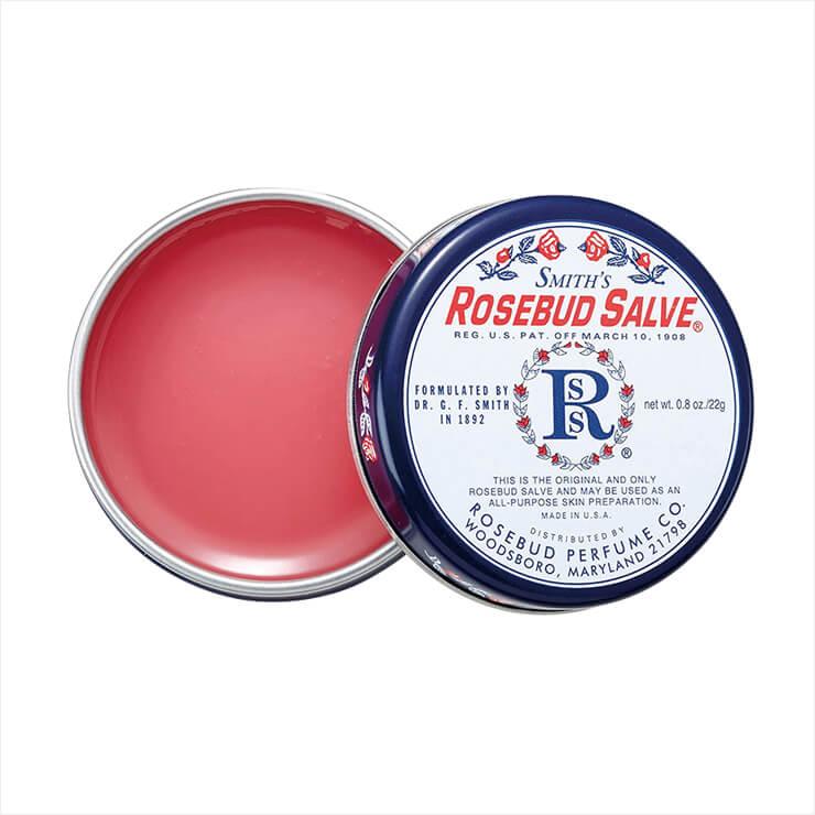 스미스 로즈버드 살브 오리지널 립밤, 7달러(국내 미출시), Rosebud Perfume Co.