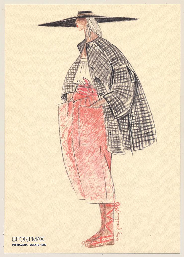 1982년, 디자이너 기 폴린이 그린 스케치.