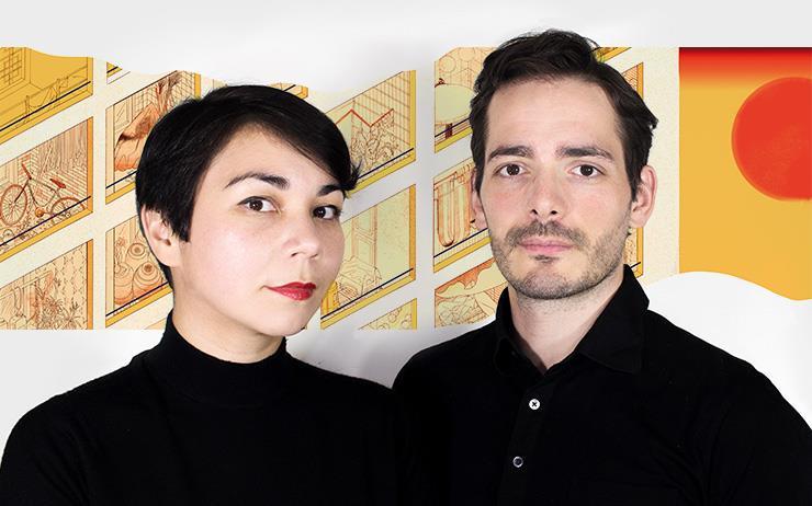 프랑스 디자인 듀오 이시노리의 마유미 오테로와 라파엘 위르빌레를 만나 <루이 비통 트래블 북> 서울 편을 위해 보낸 여행에 대해 물었다.