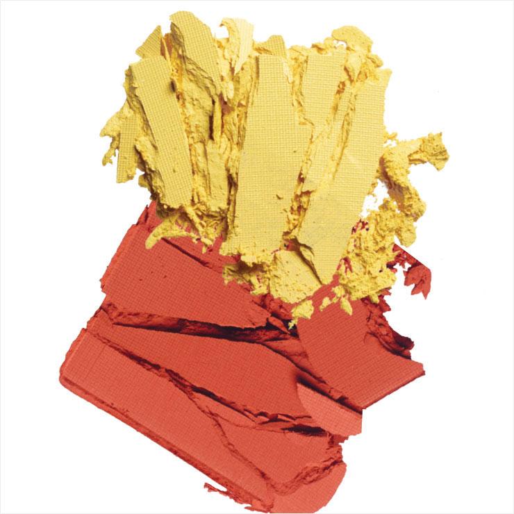 강렬한 브라이트 옐로 컬러와 뜨거운 토양의 색을 담은 싱글 아이섀도우, 도우로, 페르시아, 각 3만원, 모두 Nars.