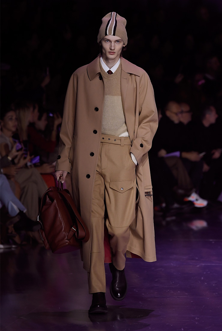 밀라노 패션쇼에서 열린 휴고보스 2020 F/W 컬렉션