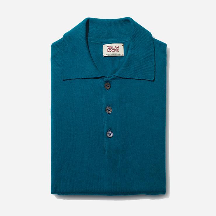 본디 블루 컬러 폴로셔츠 18만8000원 윌리엄 로키 by 바버샵.
