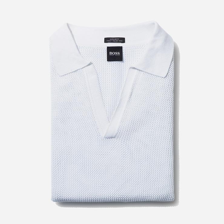 조직감이 돋보이는 쇼트 슬리브 폴로셔츠 가격 미정 보스 맨.