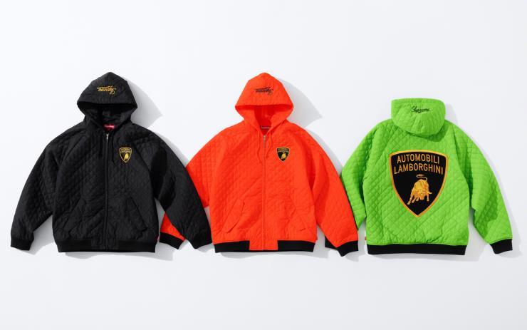 람보르기니를 입은 슈프림 2020 봄 컬렉션의 일부가 공개됐다.