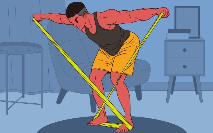전면, 측면, 후면 어깨 모두를 자극할 수 있는 운동 3가지. 홈트레이닝 밴드만 있으면 충분하다.