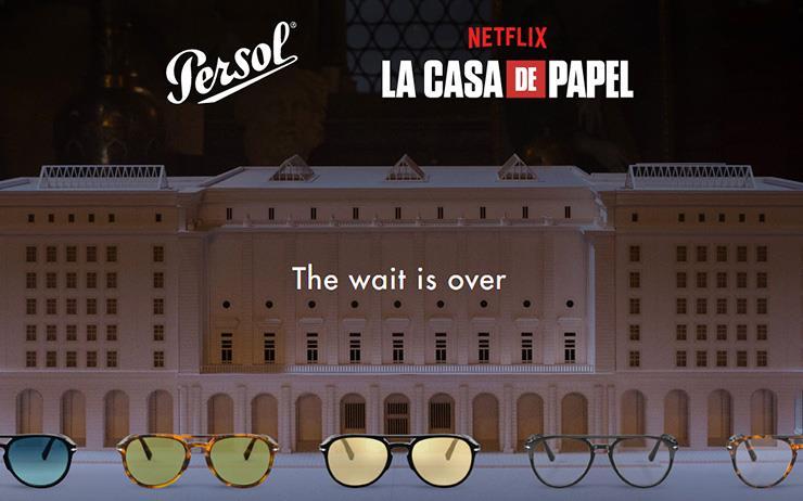 페르솔이 넷플릭스 시리즈의 '종이의 집' 아이웨어 컬렉션을 출시했다.