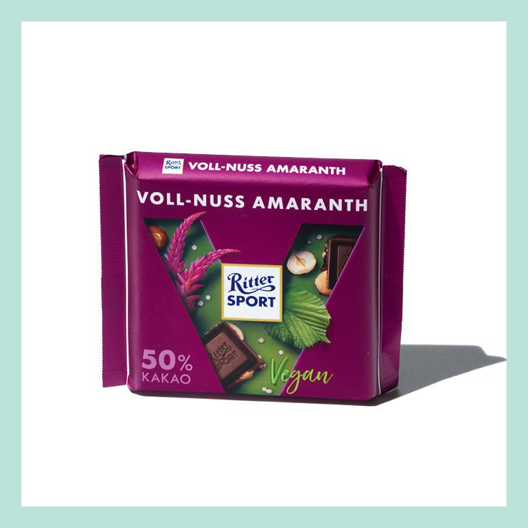 독일 대표 초콜릿 브랜드 리터스포트가 만든 100% 식물성 비건 초콜릿. 카카오의 깊은 풍미에 헤이즐넛과 아마란스씨가 바삭함을 더한다.