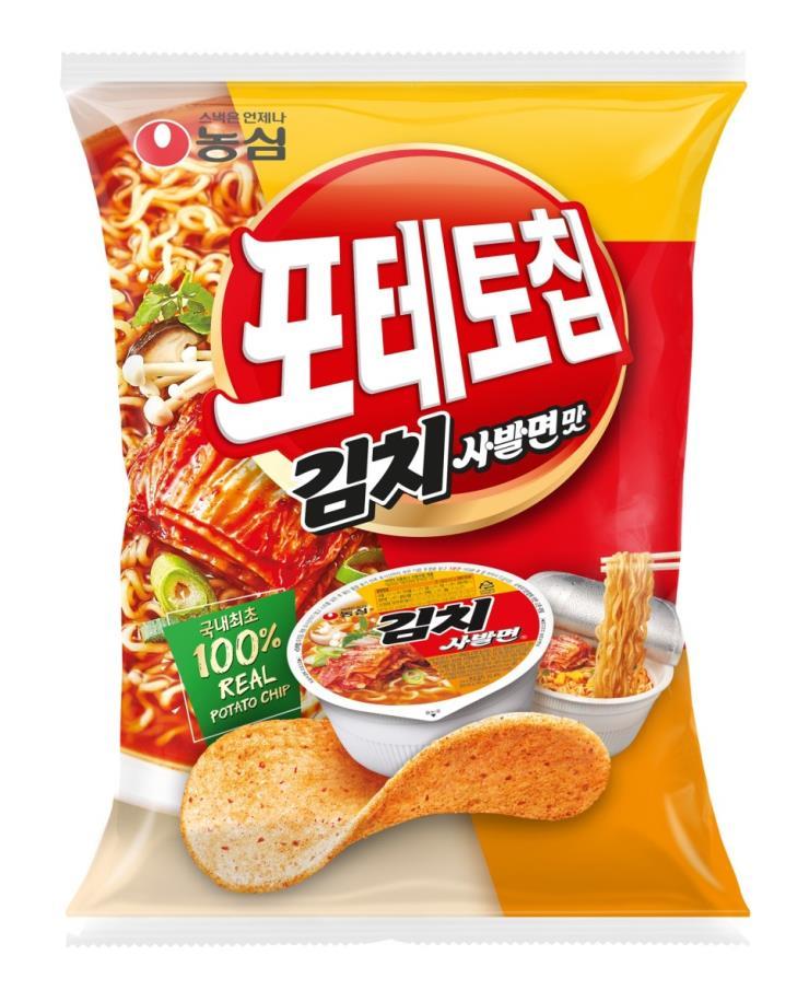 농심, 포테토칩 김치사발면맛
