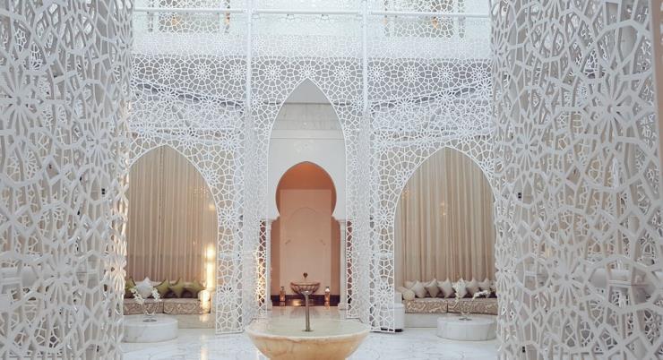 세계에서 가장 아름다운 스파 중 하나로 꼽히는 모로코 마라케시 로열 만수르(Royal Mansur) 호텔 스파. 사진/ 이선배