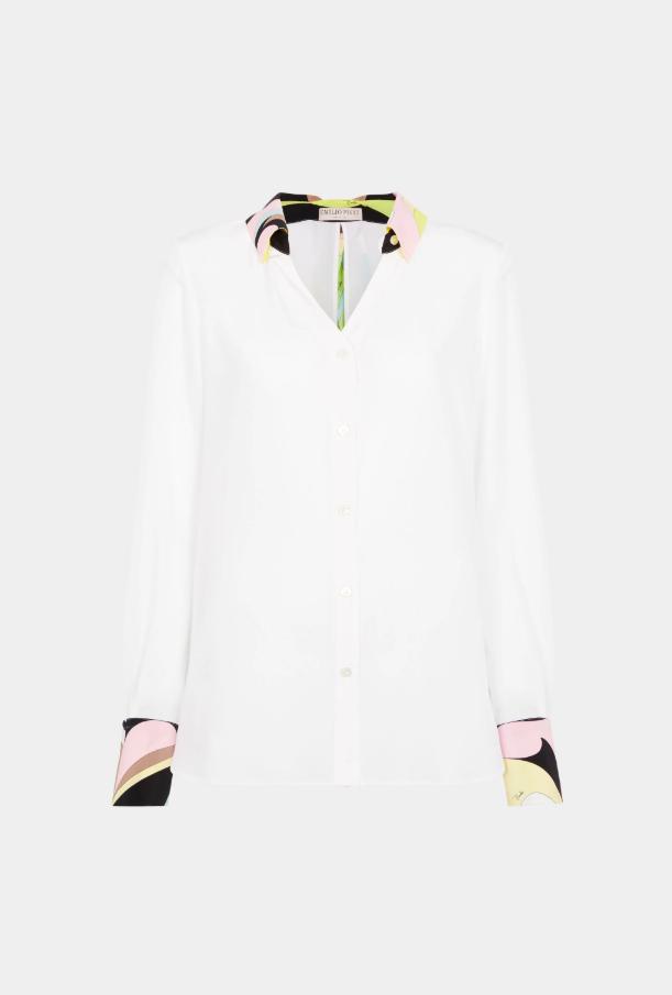 특유의 패턴이 칼라에만 들어간 실크 셔츠, 2백만원대, 에밀리오 푸치