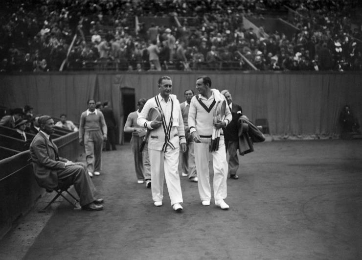 1935년, 잭 크로포드와 프레드 페리의 모습 @게티 이미지