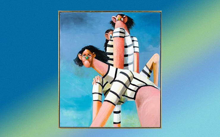 미국 현대 미술 작가 조지 콘도가 그렸다.