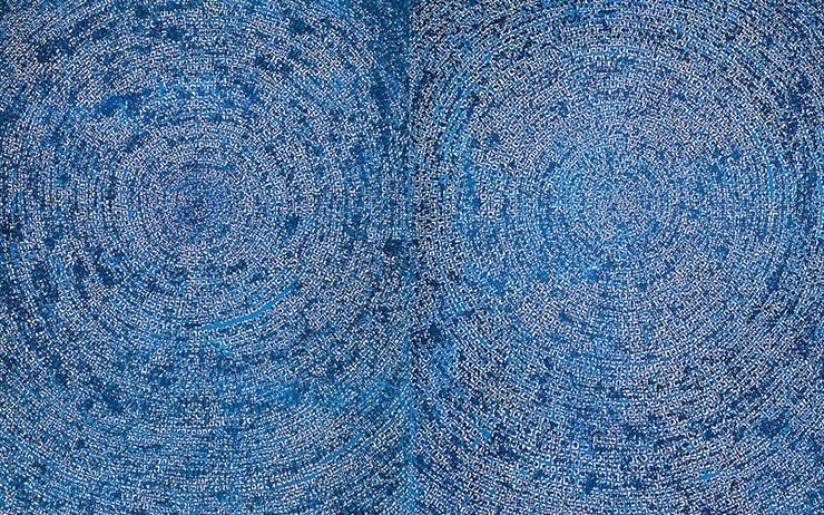 홍콩 경매에서 한국미술품 최고가로 출품된 김환기 작가의 '우주'를 만나볼 수 있다.