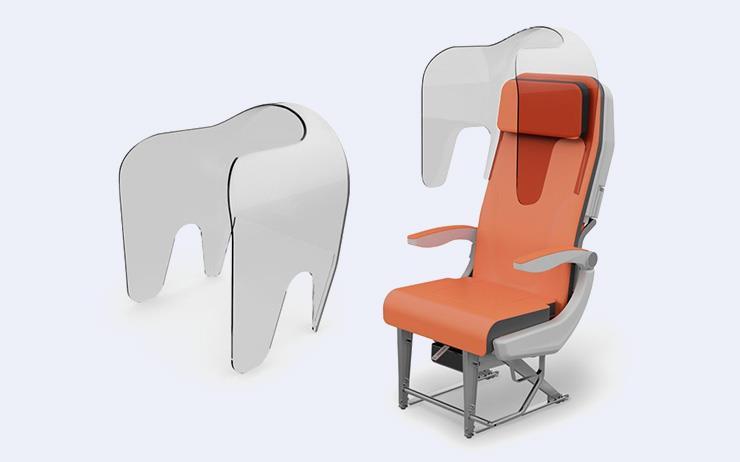 아비오인테리어가 코로나19 이후 변화될 비행기 좌석을 새롭게 디자인했다.