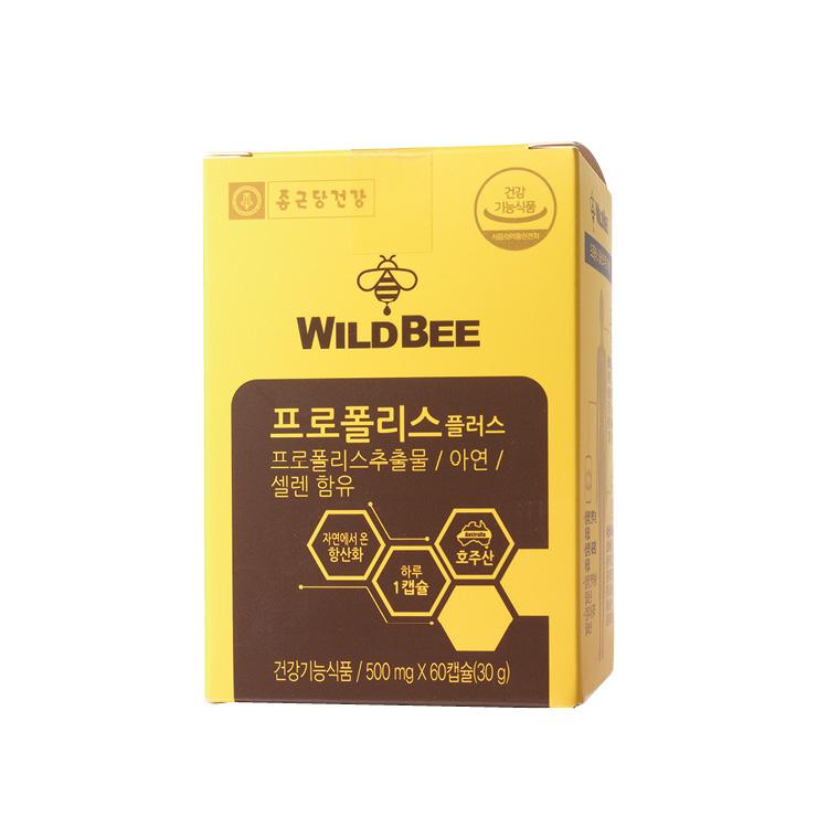정상적인 면역 기능을 유지하게 하는 아연과 셀렌을 함유한 프로폴리스 플러스, 60캡슐 1만4천9백원대, Wild Bee.