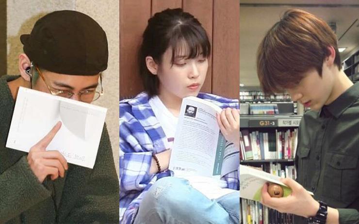 BTS부터 뉴이스트까지, 스타들이 직접 읽어 화제가 된 책들.
