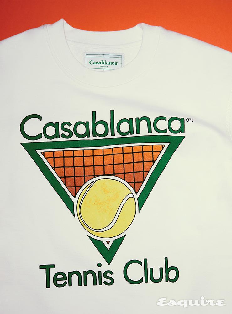 테니스부 로고 스웨트셔츠 43만원 카사블랑카 by 분더샵.