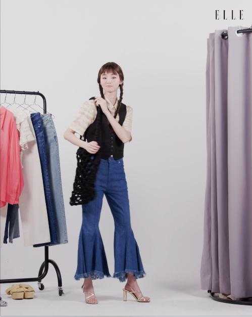 셔츠와 크로셰 니트 백은 The Open Product.. 슈트 베스트는 Zara.