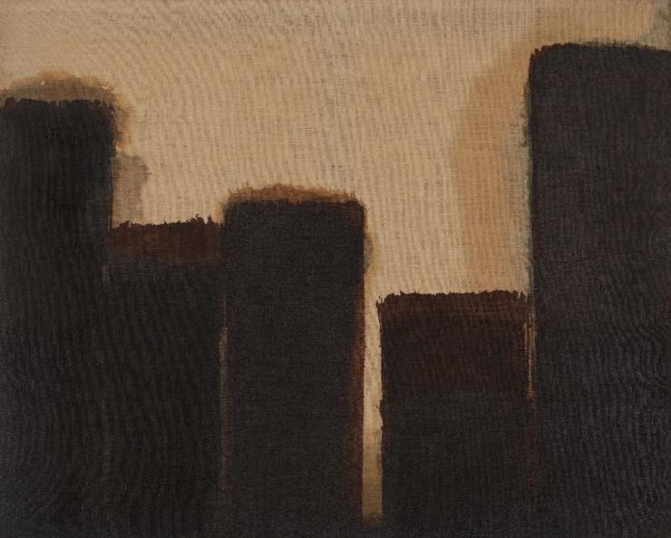 Yun Hyong-keun, 'Burnt Umber & Ultramarine', 1977 - 1989, Oil on linen, 73 x 91 cm. Courtesy of PKM Gallery