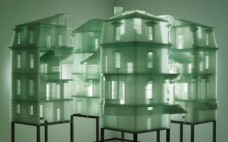 〈Home Within Home〉, 2009, Photosensitive resin 218.8 x 243.04x256.84cm (84.14x95.69x101.12 inches) © Do Ho Suh Courtesy the Artist, Lehmann Maupin, New York and Hong Kong and Seoul