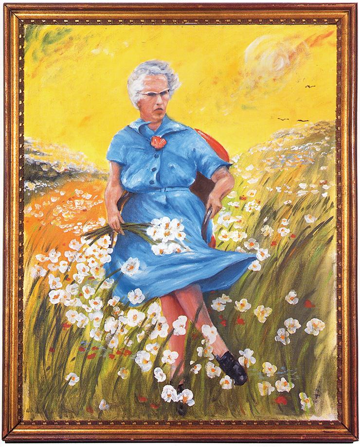작자 미상, <Lucy in the Field with Flowers>, Oil on canvas.