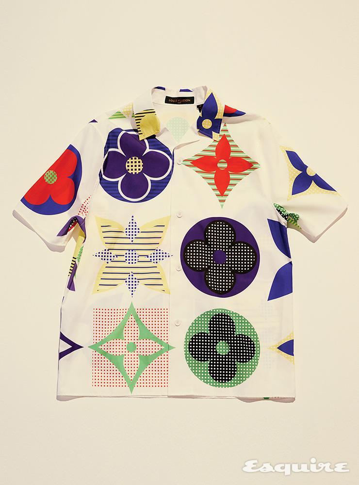 멀티컬러 모노그램 하와이안 셔츠 가격 미정 루이 비통.