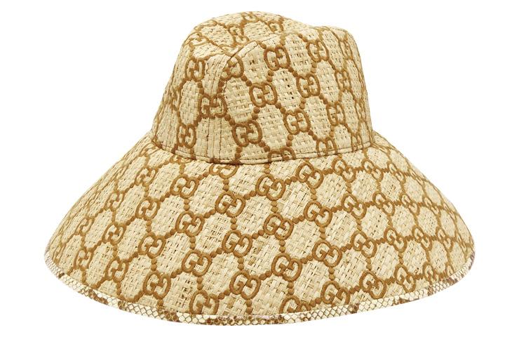 GG 로고 패턴의 라피아 모자는 90만원대, Gucci by Matchesfashion.