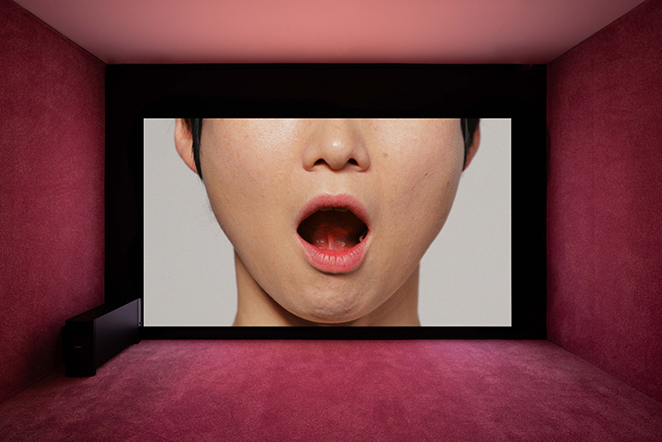 Yunjung Lee, Tongue Gymnastics, 2020; exhibited by d/p.Exhibition view, No Space Just a Place, Daelim Museum, Seoul (2020)