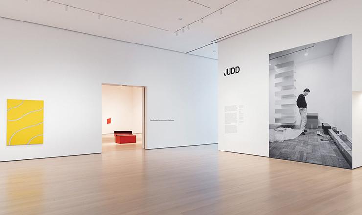 Installation view of?Judd. The Museum of Modern Art, New York, Digital Image ⓒ 2020 The Museum of Modern Art, New York. Photo: Jonathan Muzikar