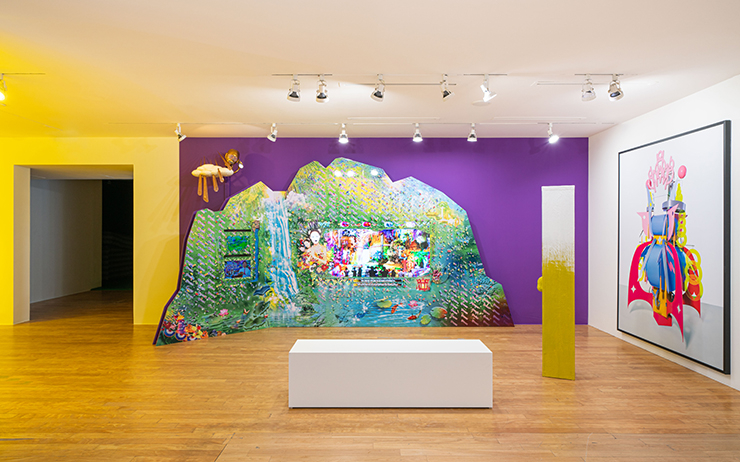 """View of 'Psychedelic Nature: Natasha and Two Yellow Pieces"""" exhibited by BOAN1942.Exhibition view, No Space Just a Place, Daelim Museum, Seoul (2020)"""