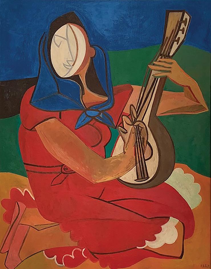 〈Joueuse de Mandoline〉, 1953.