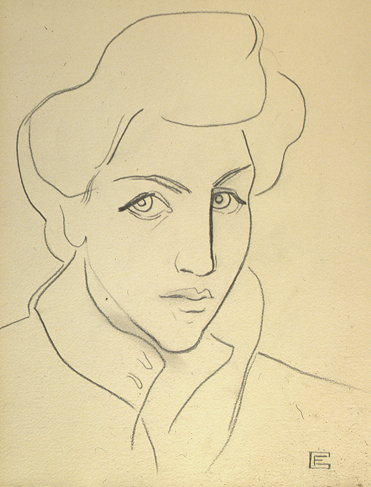 프랑수아즈 질로, 〈자화상(Anxious Times)〉, 1940.
