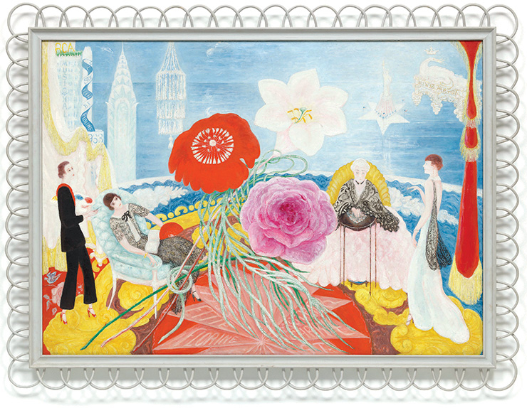 Florine Stettheimer, 〈Family Portrait, II〉, 1933, Oil on canvas, 117.4 x 164 cm. Digital image, The Museum of Modern Art, New York/Scala, Florence
