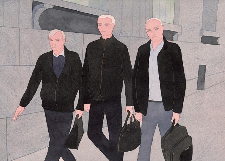 Businessmen, Bolshaya Morskaya Street.