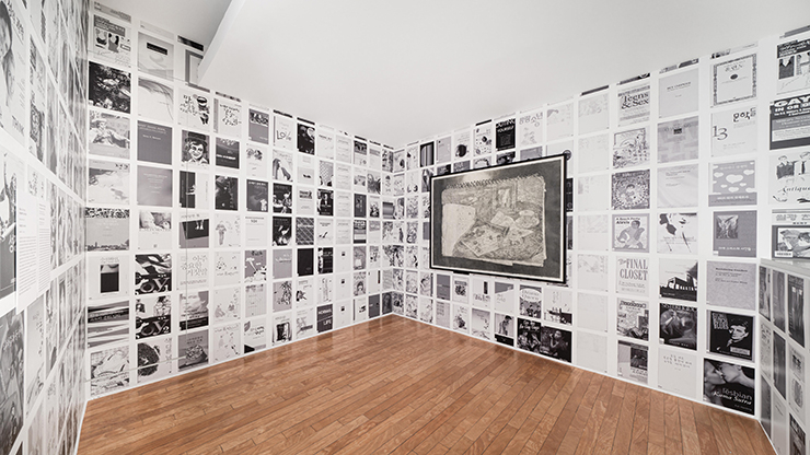 Lee Kang Seung, Covers (QueerArch), 2019/2020; Untitled (Diary), 2020. Exhibition view, No Space Just a Place, Daelim Museum, Seoul (2020)