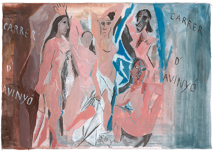 Carrer d'Avinyo, The Ladies of Avignon by Pablo Picasso.