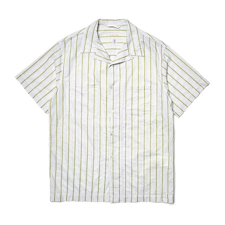 스트라이프 쿠반 칼라 셔츠 26만5000원 이스트 하버 서플러스 by 샌프란시스코 마켓.