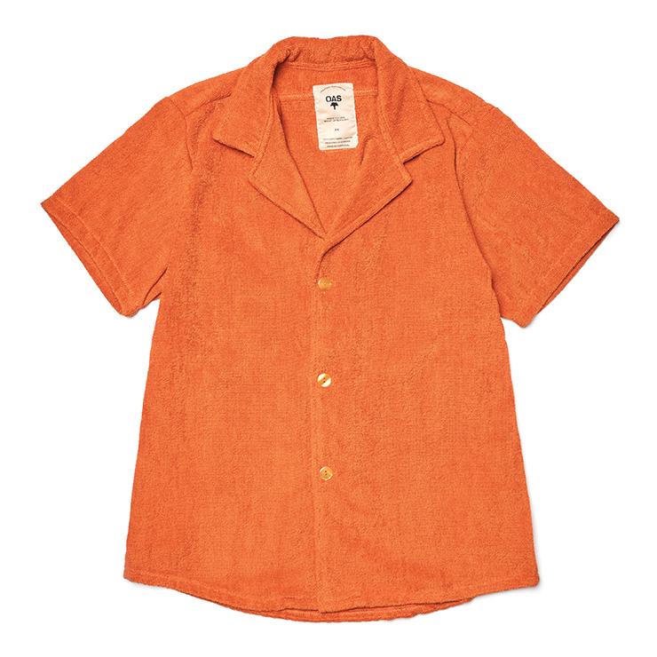 오렌지 컬러 테리 셔츠 13만8000원 OAS by 바버샵.