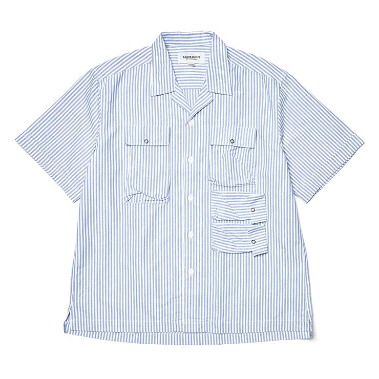 블루 스트라이프 유틸리티 필드 하프 셔츠 10만원 이스트로그.