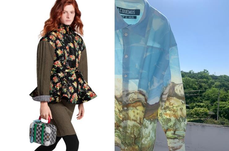발리젯 BB 백은 Louis Vuitton / 그림같은 패턴의 셔츠는 Jacquemus
