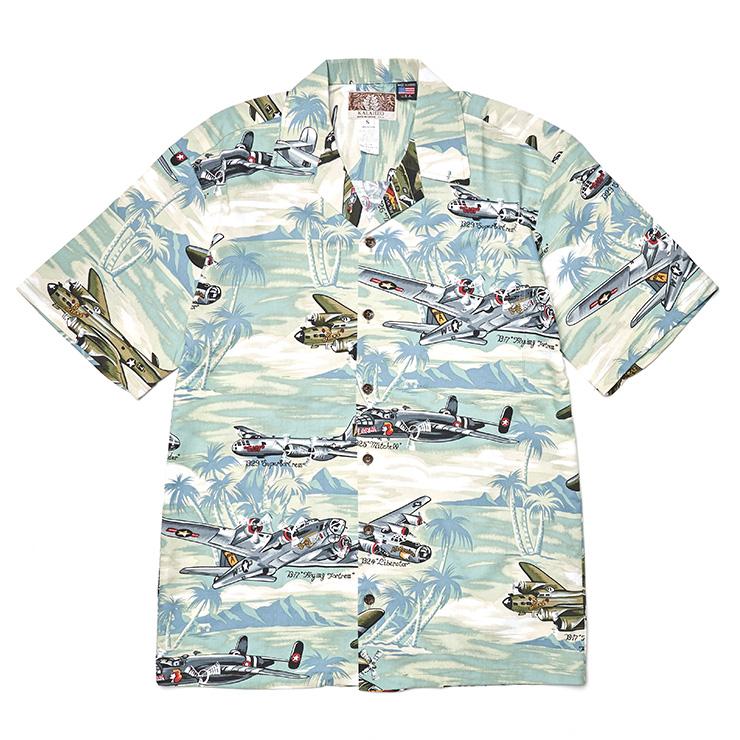 비행기 패턴 하와이안 셔츠 7만6000원 로버트 J.C 하와이 by ETC 서울.