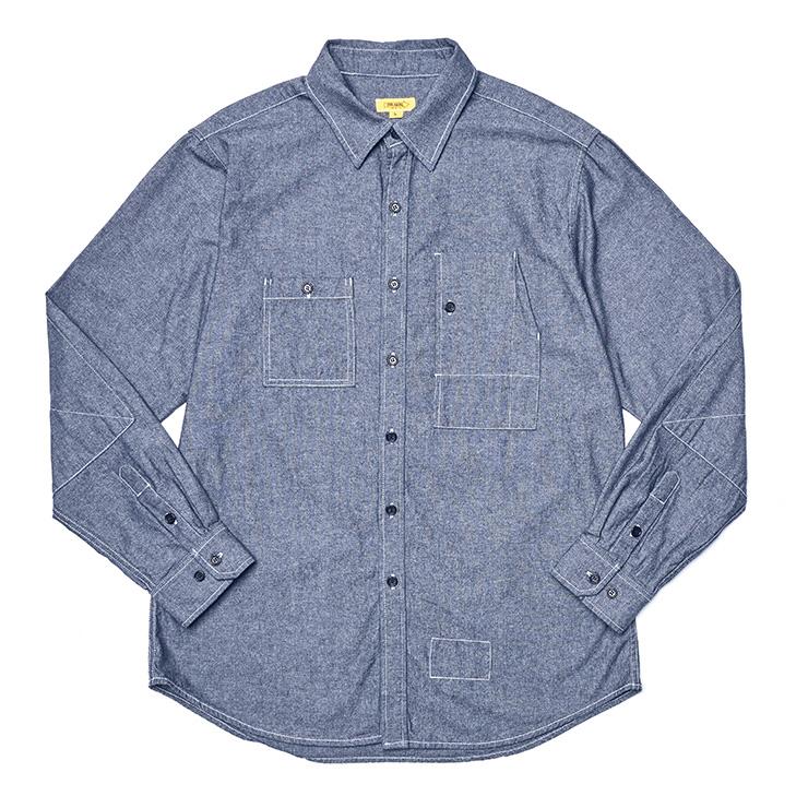 인디고 샴브레이 테디 셔츠 15만9000원 더 레스큐.