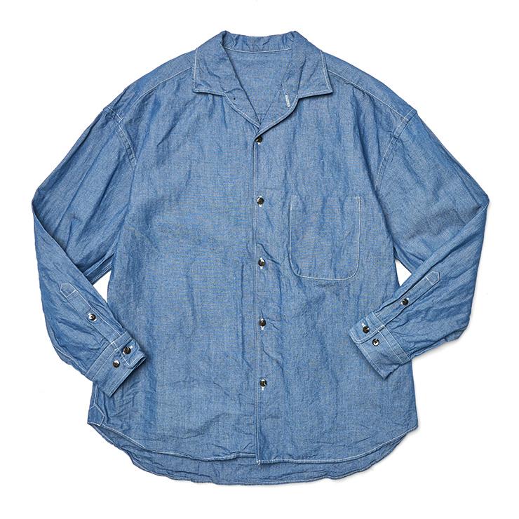 미디엄 블루 데님 셔츠 41만8000원 URU by 1ldk 서울.