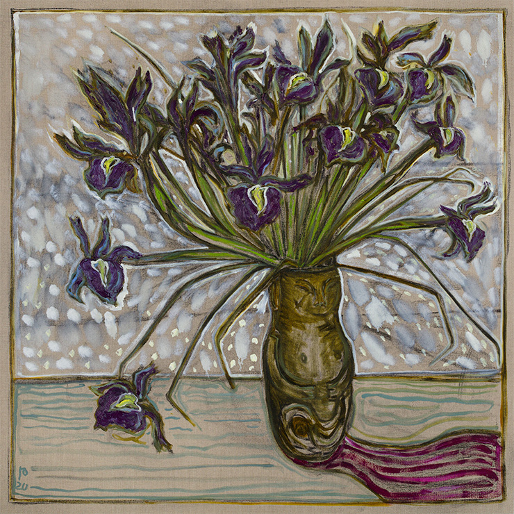 Billy Childish, Irises, 2020, Courtesy the artist and Lehmann Maupin, New York, Hong Kong, and Seoul.